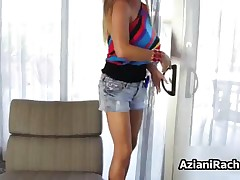 Rachel Aziani - Blonde Cougar With Big Tits Loves To Play With Her Tight Pussy By AzianiRachel