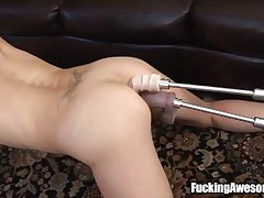 Nikki West - See Nikki West In This One Hot Video Of Her Getting Fucked By 2 Dildos In A Fucking Mac