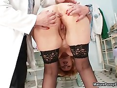 Dirty Old Slut Getting Her Hairy Cunt Finger Fucked By A Doctor By MaturePussyExams