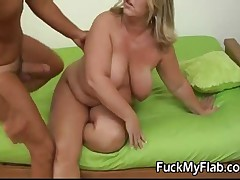 Mature BBW Gets Her Fat Fucked
