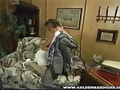 Busty Blonde Porn Slut Sucks Cock