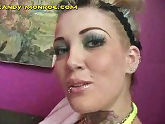 Candy Monroe - Candy Gets Massage While Sucking BBC