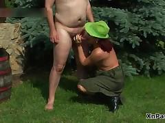 Horny Grandpa Fucking This Mature Redhead Her Pussy Wild By XNPass