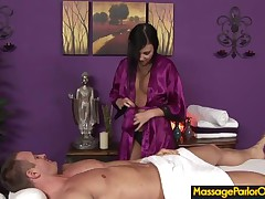 Ivy Winters - During An Oily Massage Ivy Deepthroats Her Clients Cock Until He Cums