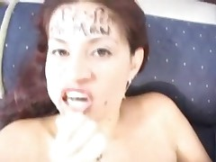 Karina Fuentes - Who Needs Newspaper When You Have Heads To Write On?