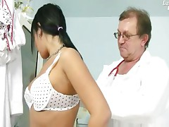 Carmen Blue - Carmen Gets Her Pussy Gaping By Old Kinky Gyno Doctor