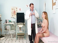 Viktorie - Viktorie Hairy Pussy Gyno Gaping Exam At Clinic