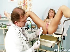 Vladimira - Mature Vladirima Gets Pussy Checked On Gynochair