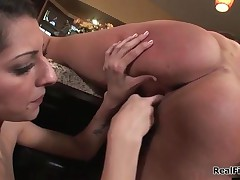 Real Lesbian Girl Cums Hard From Licking A Wet Tight Pussy By RealFilly