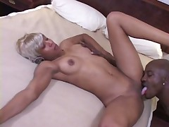 Cocksucking Black Nurse Swallows Ejaculate
