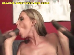 Cougar Sucks And Gets Fucked By Two Blacks