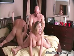 Anna Miller And Housewife Kelly - Two Guys Swap Their Wives And Fuck Them Hard