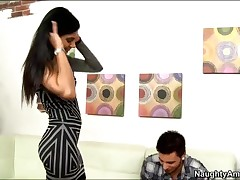 Shazia Sahari Vs Dane Cross - My Dads Hot Girlfriend - Shazias Mouth Is On Danes Dick And She Ends U