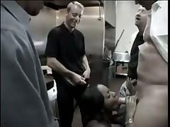 Nasty Black Woman Stuffed By White Pricks