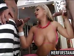 Andi Anderson - Two Guys DP Fucking Big Titty Blond