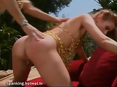 Good Looking Redhead And Blonde With Big Tit Does Their Spanking Outdoors