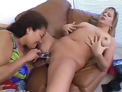 Inter-racial BBW Dykes Try Out Toyz
