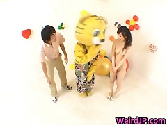 Asian Girl Is Showing Off On Television Show 5 By WeirdJP