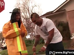 Aletta Ocean - Aletta Gets Picked Up In Her Uniform And Freaky Lingerie