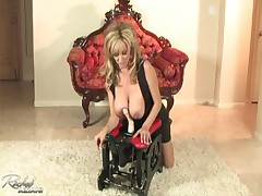 Rachel Aziani - Works A Toy With Her Tits