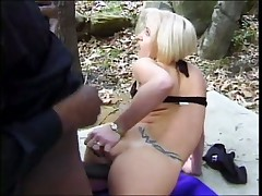 White Starlet's Asshole Gets Bushwhacked In Forest
