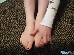 Riley Rebel - Naughty Teen And Her Cute Feet
