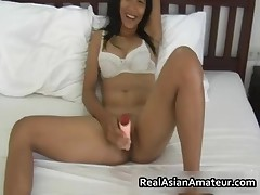 Hairy Pussy Asian Hottie Handjob Pleasure In Bed 3 Realasianamateur