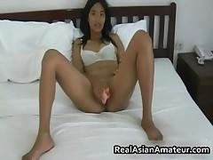 Hairy Pussy Asian Hottie Handjob Pleasure In Bed 3 Realasianamateur