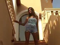 Vanessa B - Busty Street Strip