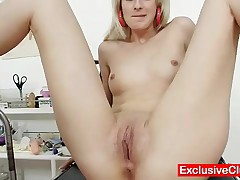 Mia Hilton - Beautiful Sexy Blonde Being Checked By Filthy Older Gyno MD With Bizarre Gyno Tools Inc