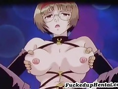 Tied Up Hentai Slut Giving Blowjob
