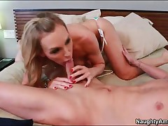 Tanya Tate Vs Kris Slater - Seduced By A Cougar - Tanya Tate Is Toweling Off By The Pool And Takes O