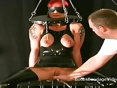 Blindfolded Busty Slave Gets Big Tits Vacuum Tortured