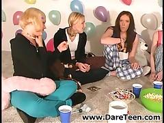 Girls In Pajamas Having Fun On Truth Or Dare Sexgame