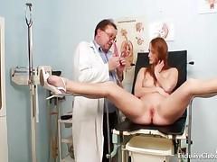 Denisa - Redhead Denisa Gyno Pussy Speculum Vaginal Examination