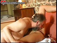 Horny Teen Blonde Gets Her Tight Pussy Licked By This Horny Old Man By TeensLoveOldGuys