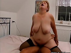Chubby Old Grandma Gets Her Pussy Fucked By A Young Cock By OldUnlimited