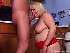 Lizzy Liques - Gorgeous Blonde MILF Gets Fucked Hard And Enjoys A Sticky Facial Cumshot