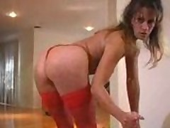 Teasing MILF gives a pleasurable handjob