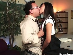 Schoolgirl hottie Nadia Aria loves sex