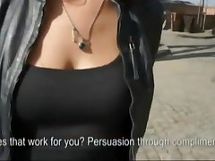 Brunette Euro Beauty Shows Tits And Is Banged Hard Outdoors