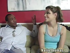 Katie Thomas - Dieting On Black Cum