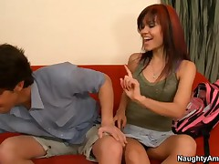 Ruby Knox Vs Seth Gamble - My Sisters Hot Friend - Seth Stops By The House Of His Kid Sisters Friend