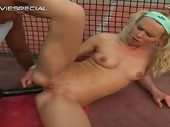 Blonde Adolescent Getting Large Sex Toy Up The Asshole And Getting Gape Covered In Cum Three By Nast