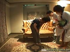 Mikan Tokonatsu - Sexy And Beautiful Mikan Tokonatsu In Red Getting Hammered Stiff 1 By AssNippon