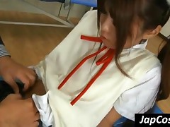 Pretty Japanese Schoolgirl Gets Asshole Licked By Teacher