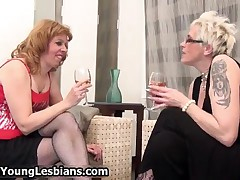 Two Sexy Mature Housewifes Love Playing Horny Lesbian Sex Games By OldNYoungLesbians