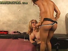 Nina Hartley Vs Izabella Star - Milf Fucks Her Black Girlfriend With Strapon