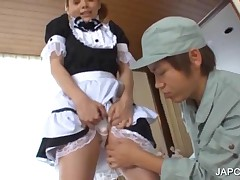 Redhead Japanese Maiden Getting Pussy Wet