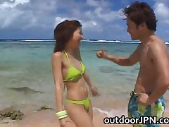 Ai Hanzawa - Ai Hanzawa Lovely Japanese Amazing Babe Fucks On The Beach Asian Porn 1 By OutdoorJPN